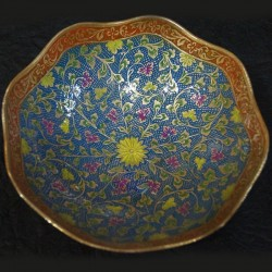 Flower shaped brass fruit bowl