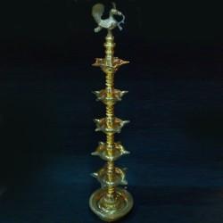 Unique hand made kerala brass deepas