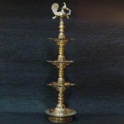 Three step unique kerala brass deepas