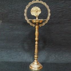 Beautiful kerala peacock brass deepa