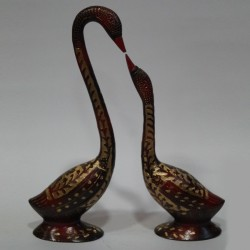 Duck and Duckling Brass Idol