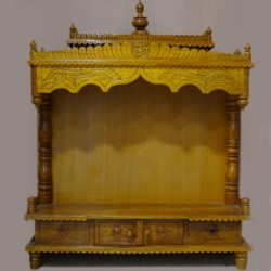 Designed teak wooden mantap
