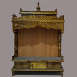 Designed teak wooden mantap with drawer