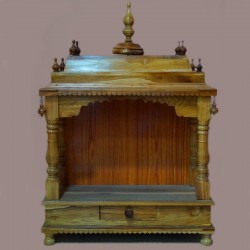 Wooden puja mantap with drawer