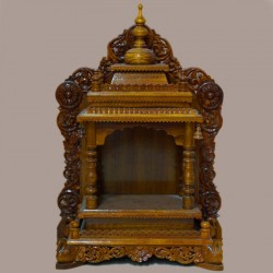 Beautifully craved wooden mantap