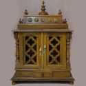 Wooden puja mantap with door