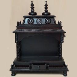 Designed rose wooden black puja mantap
