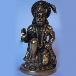 Blessing hanuman brass idol