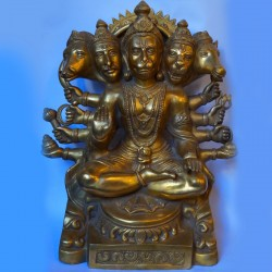 Powerful Panchmukhi Hanuman brass statue