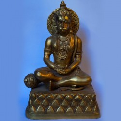 Lord Hanuman meditating brass idol
