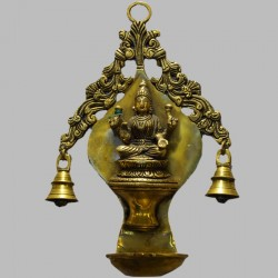 Saraswathi wall hanging deepa with bells