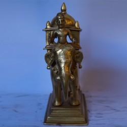 Beautiful Elephant ambari brass  idol