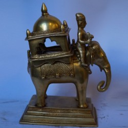 Elephant ambari brass statue