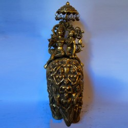 Beautifully designed Elephant ambari brass statue