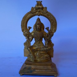 Ma Lakshmi with peeta prabhavali brass statue