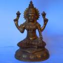 Goddess Lakshmi antique brass statue