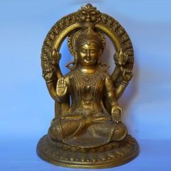 Blessing Goddess Lakshmi brass statue