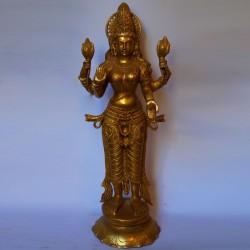 Beautiful Goddess Lakshmi standing brass statue