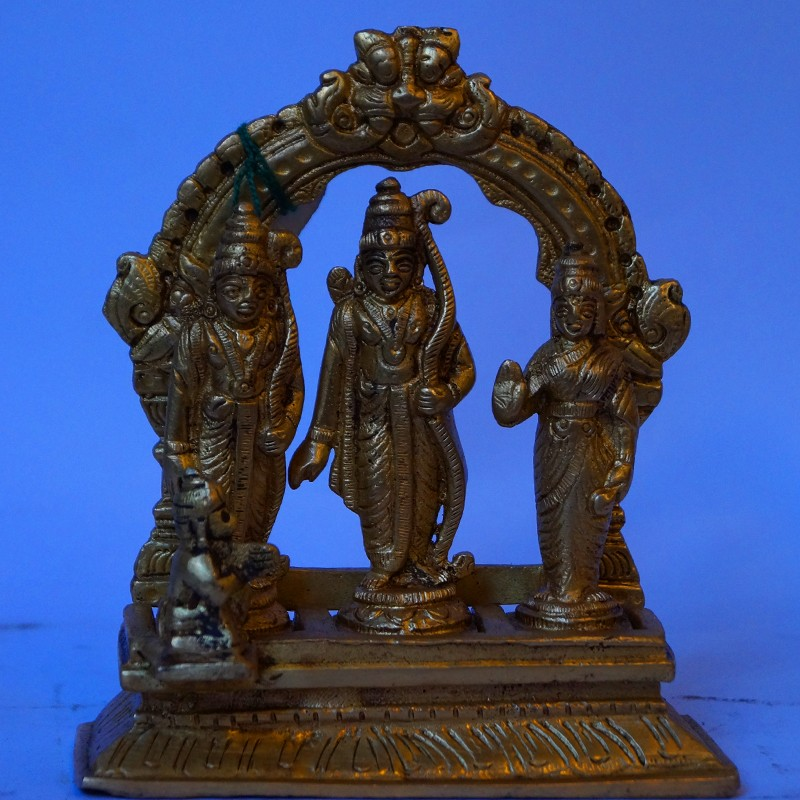 Brass Sri Ram Darbar with peeta prabhavali