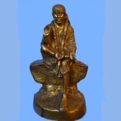 Shirdi Sai baba blessing beautiful brass idol