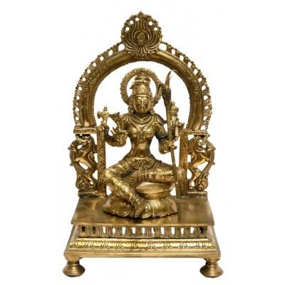 Rajarajeshwari 9 Inches Bronze statue