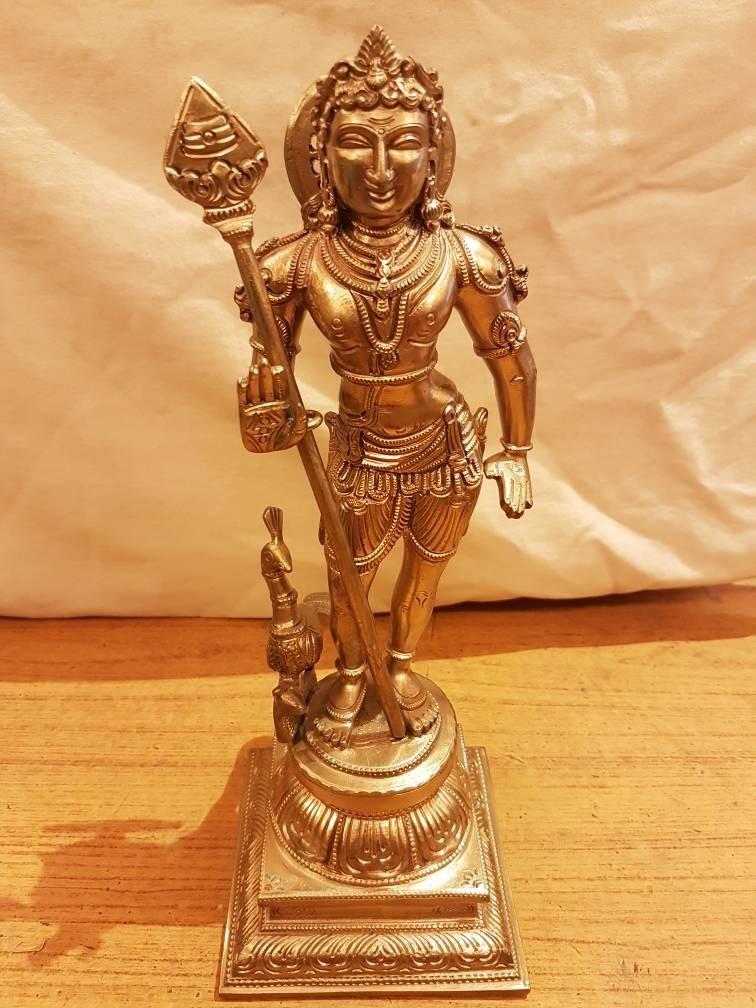 Lord Murugan Bronze fine Finsh statue