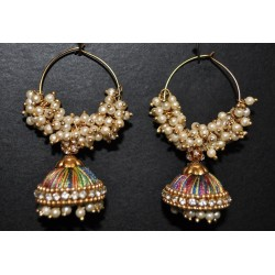Multi Colour Silk thread Jhumka