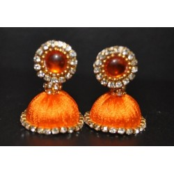 Silk thread Unicolour Jhumka_01