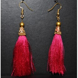 Silk thread tassel Earring with Hook