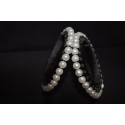Silk threaded artificial pearl Bangle_01