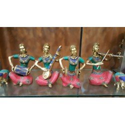 Coral finish Musician Ladies set of four