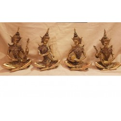 Cambodian Women musician set of four