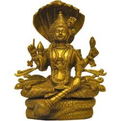 Lord Vishnu Brass statue sitting posture