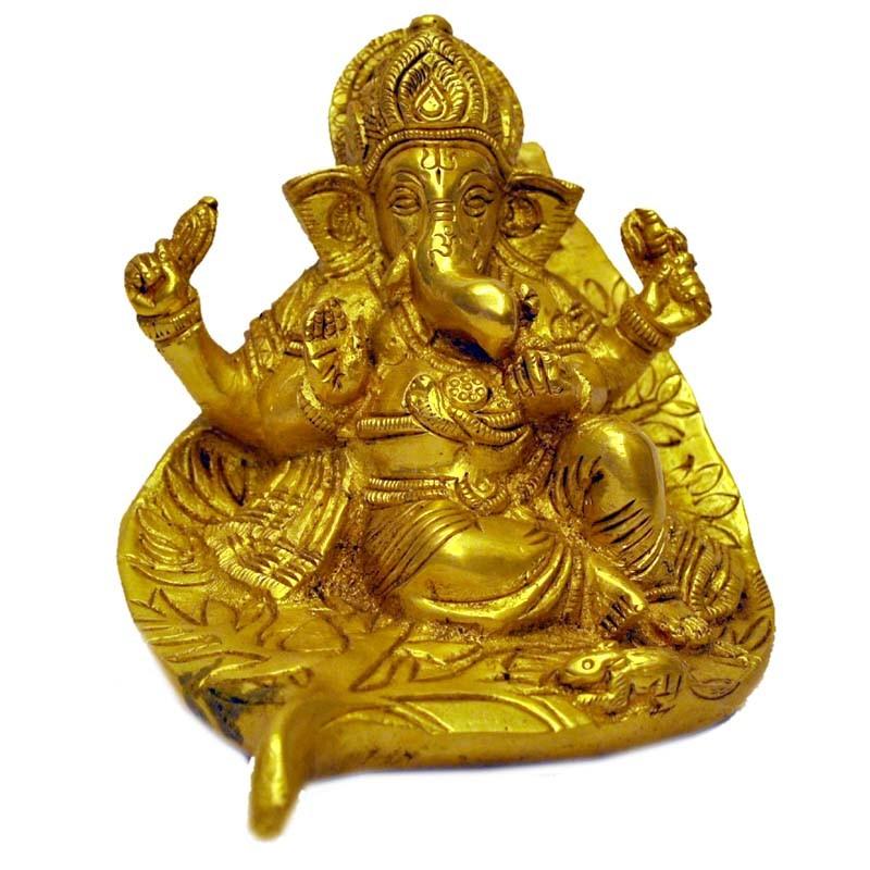 Ganesha in Leaves