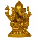 Lord Ganapathi Brass Statue with Mouse