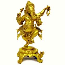 Natya Ganesha Brass Idol