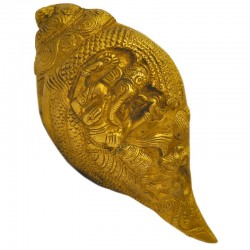 Shanka With Ganesha Engraving