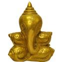 Ganesha Made Of Shanku Brass Idol
