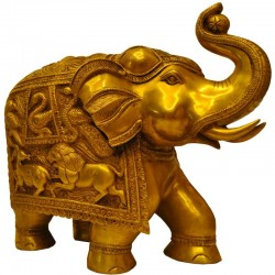 Elephant Brass Idol