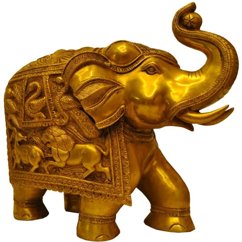Elephant Brass Idol