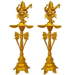 Natya Ganesh Deep - 2 Pieces