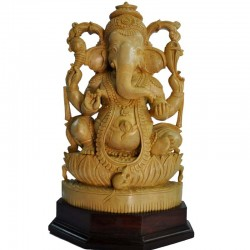 Lord Ganesha Wooden Statue