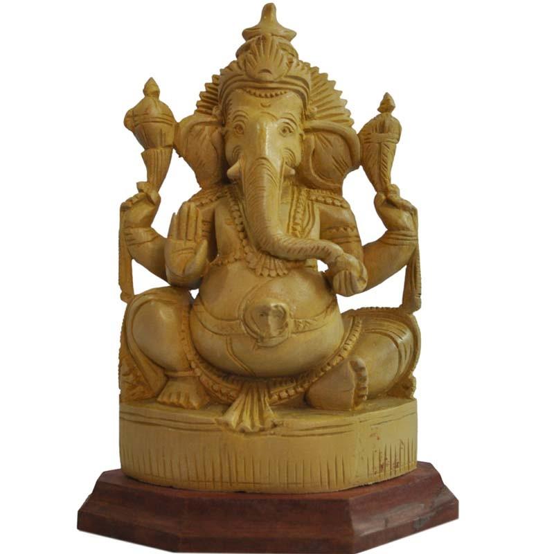 Lord Ganesha Wooden Statue