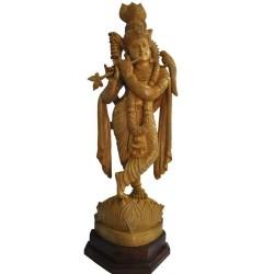krishna Wooden Statue